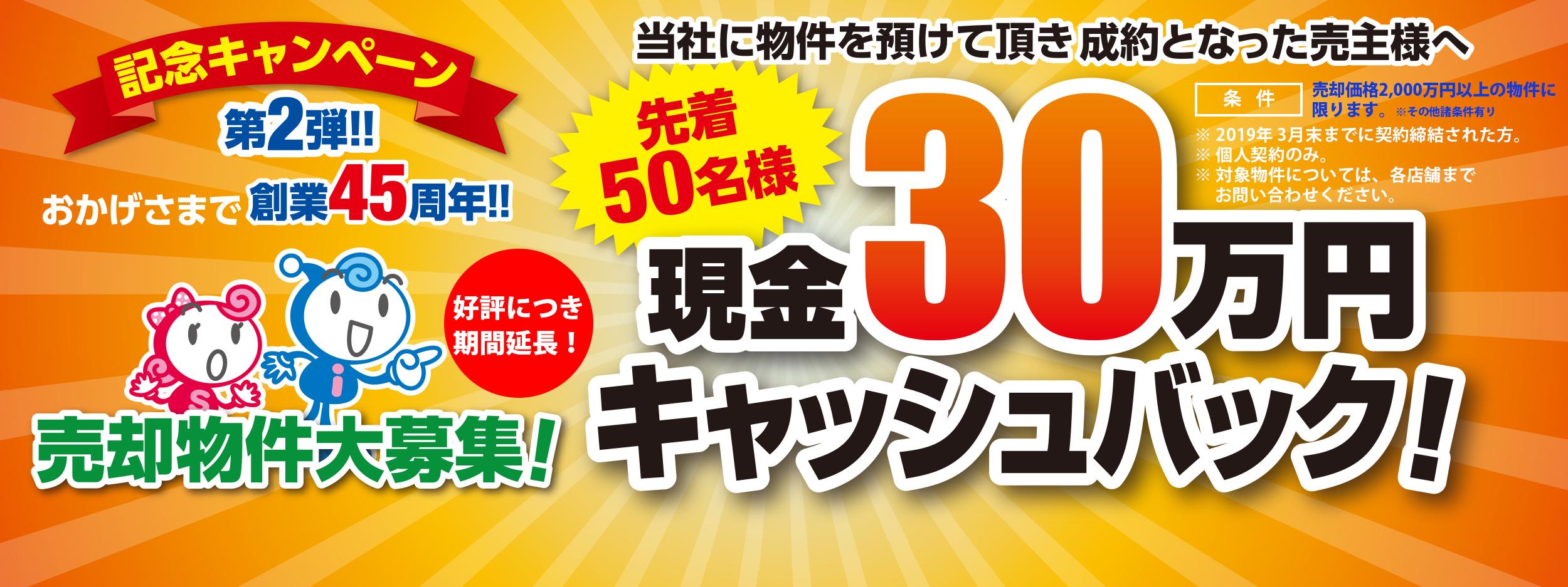 30万円キャッシュバックキャンペーン